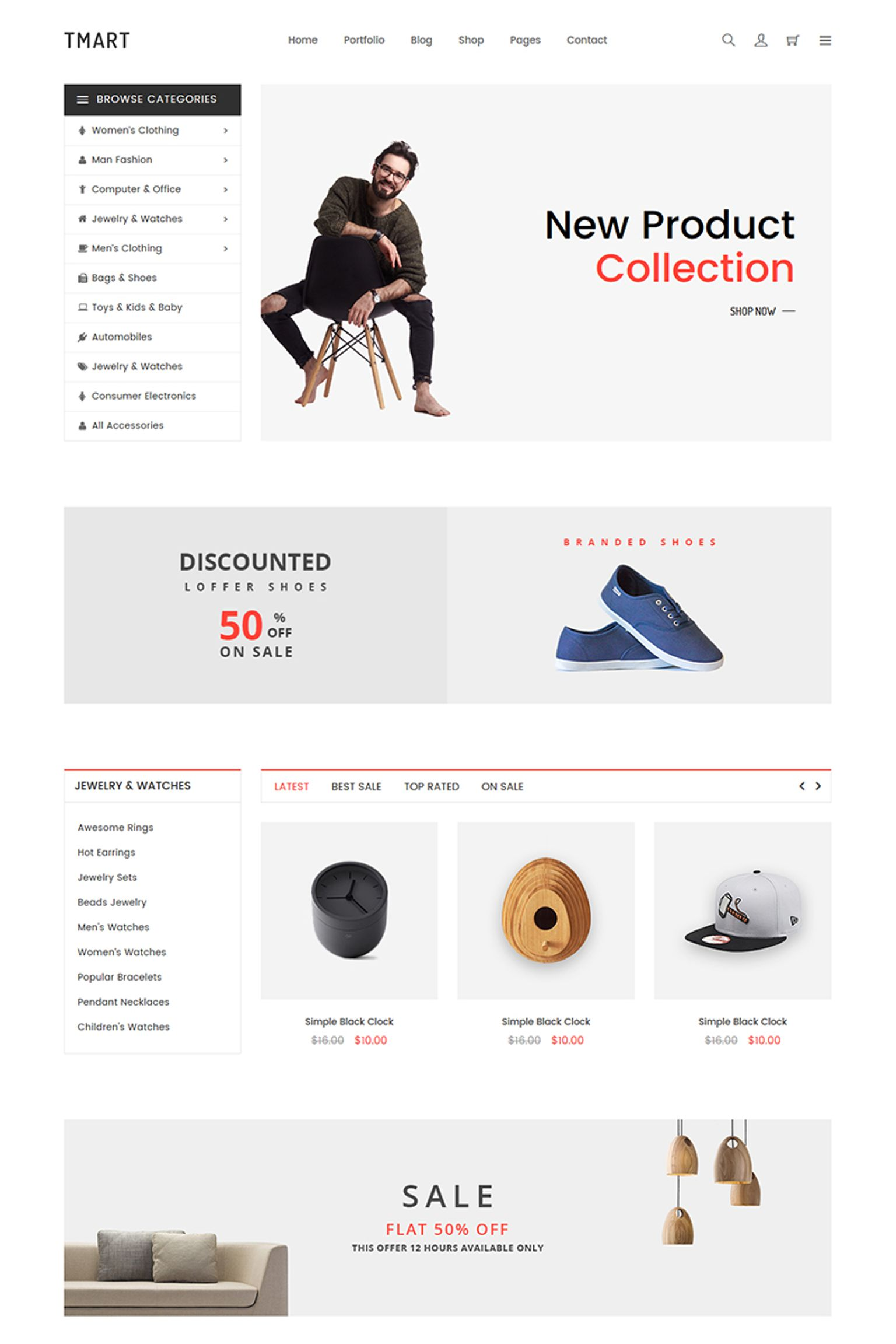 Website Design Template 67064 - digital electronics fashion flowers furniture interior minimal shop portfolio responsive shopping sport technology