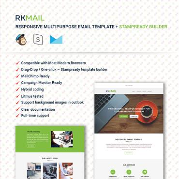 Preview image of RKMail - Responsive Multipurpose Email Template + Stampready Builder