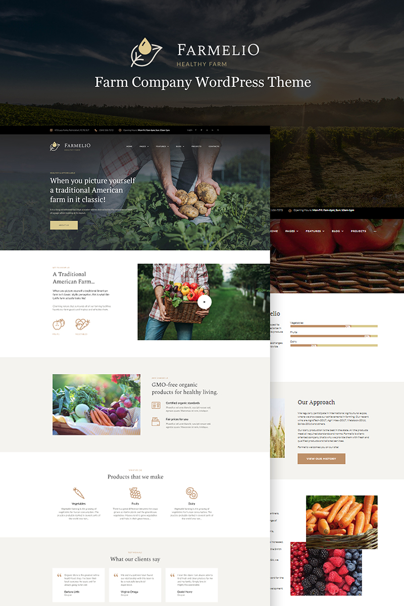 Farmelio - Farm Responsive Tema WordPress №67001 - captura de tela