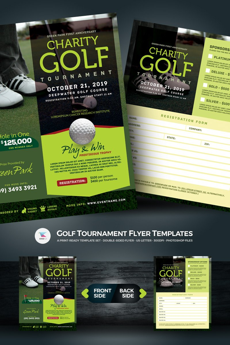 golf tournament flyer psd template 67021. Black Bedroom Furniture Sets. Home Design Ideas