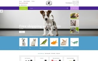 Pet Shop - Responsive OpenCart Template