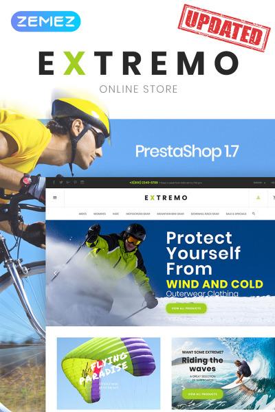 Responsives PrestaShop Theme für  Sportgeschäft