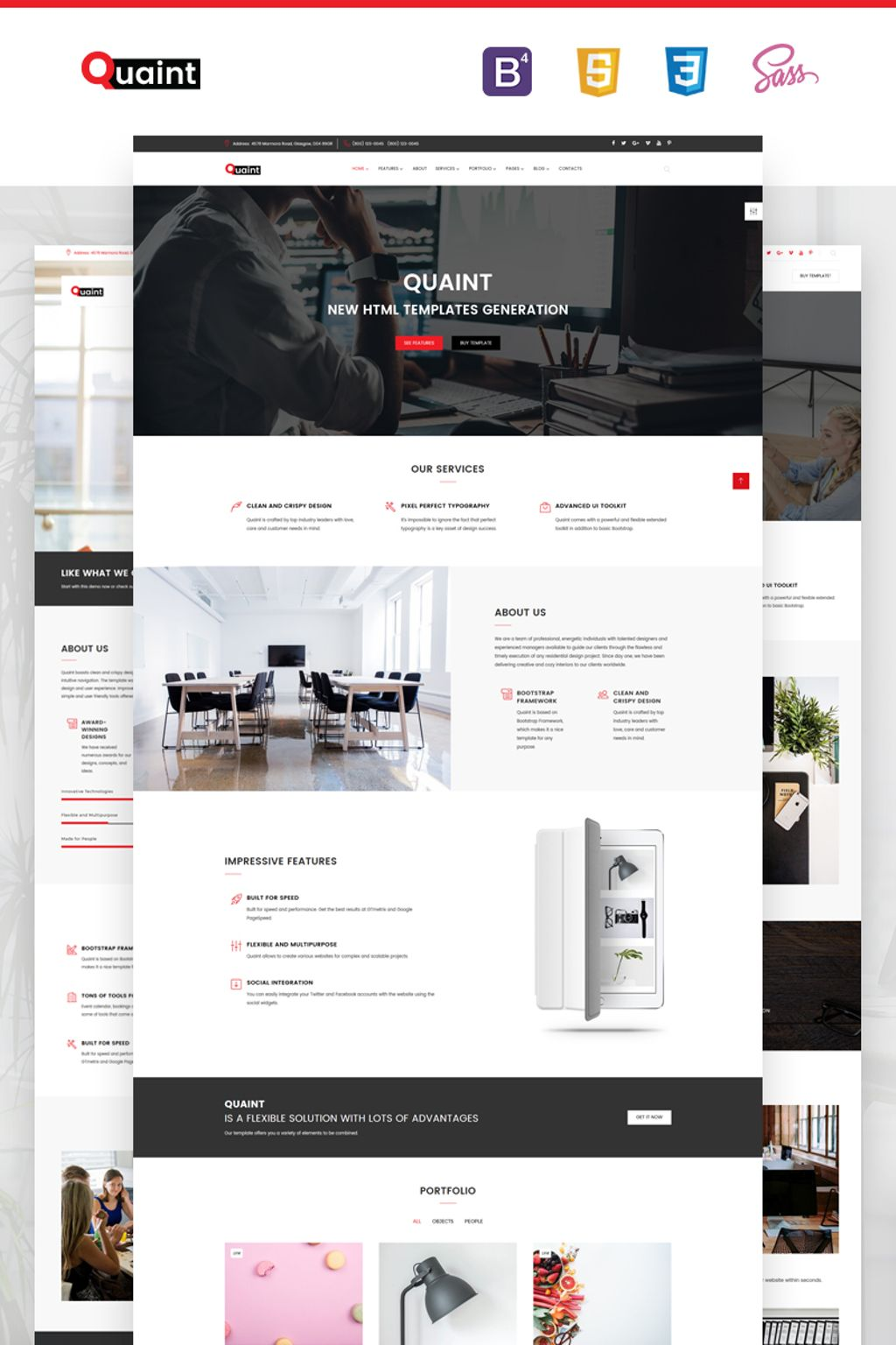 Quaint - Business Flexible Multipurpose Website Template - screenshot