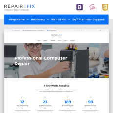 Software Bootstrap Template - Professional website templates