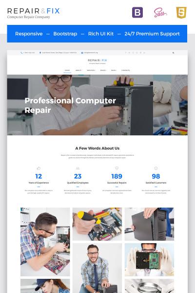 Responsywny szablon strony www Repair Fix - Computer Repair Company HTML5 #67003 #67003