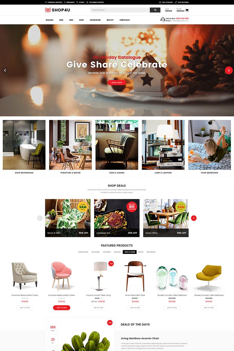 Shop4U - Modern MarketPlace WooCommerce Theme