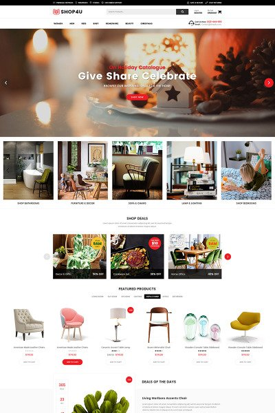 Shop4U - Modern MarketPlace WooCommerce Theme #67061