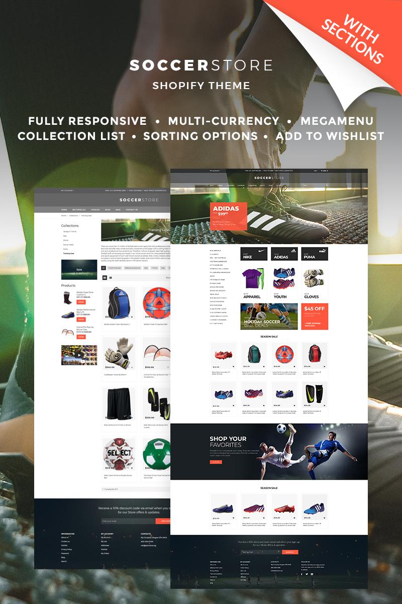 """Soccer Store"" - адаптивний Shopify шаблон №67039"