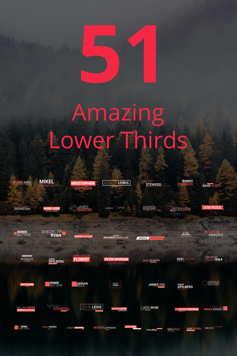 "Tema After Effects Intro #67008 ""51 Amazing Lower Thirds"""