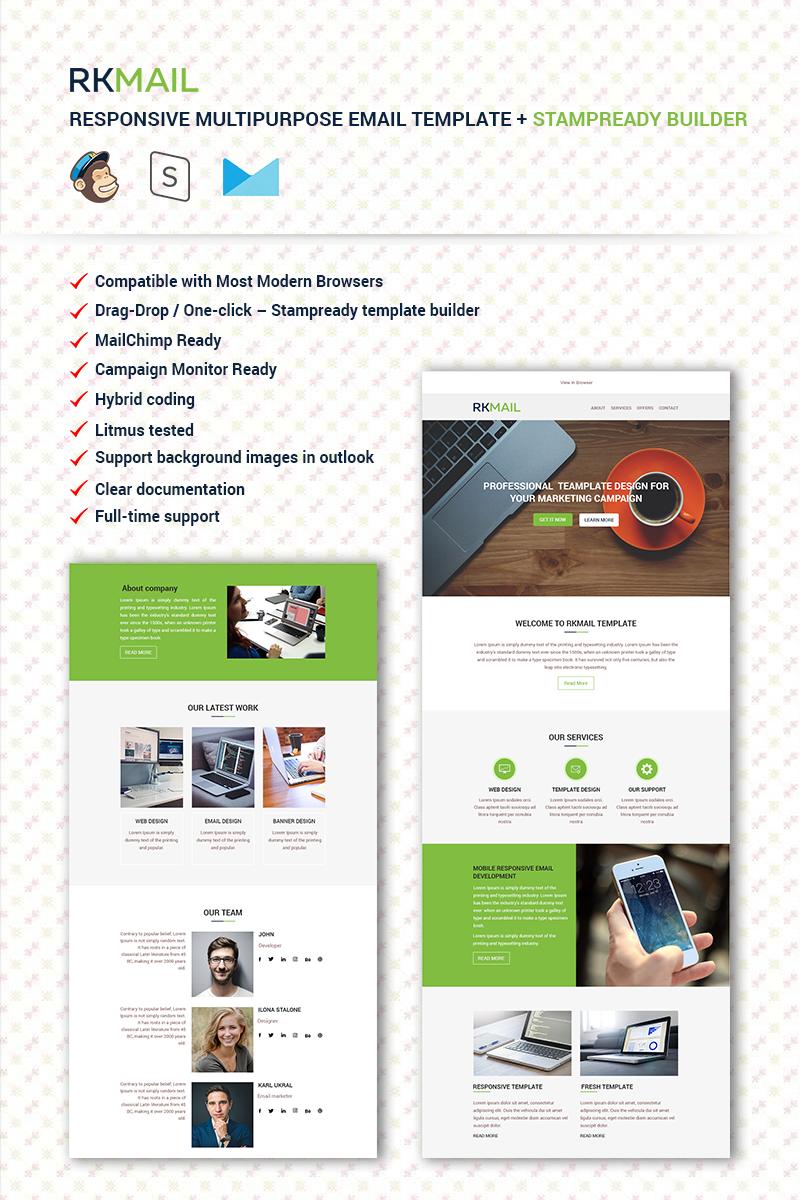 "Template di Newsletter Responsive #67072 ""RKMail - Responsive Multipurpose + Stampready Builder"""