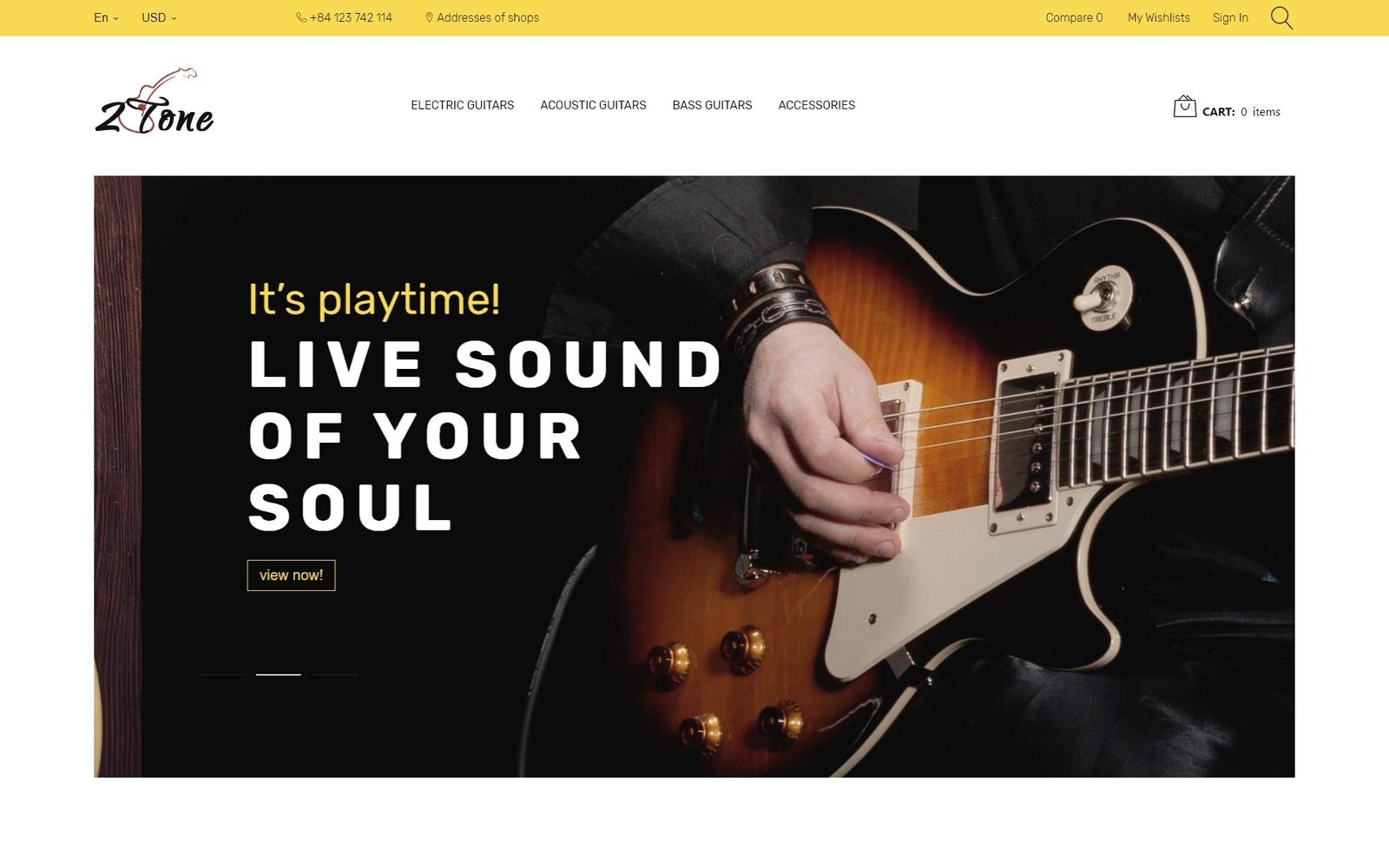 2Tone - Guitar Store PrestaShop sablon 67049