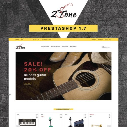 2Tone - Guitar Store - PrestaShop Template based on Bootstrap