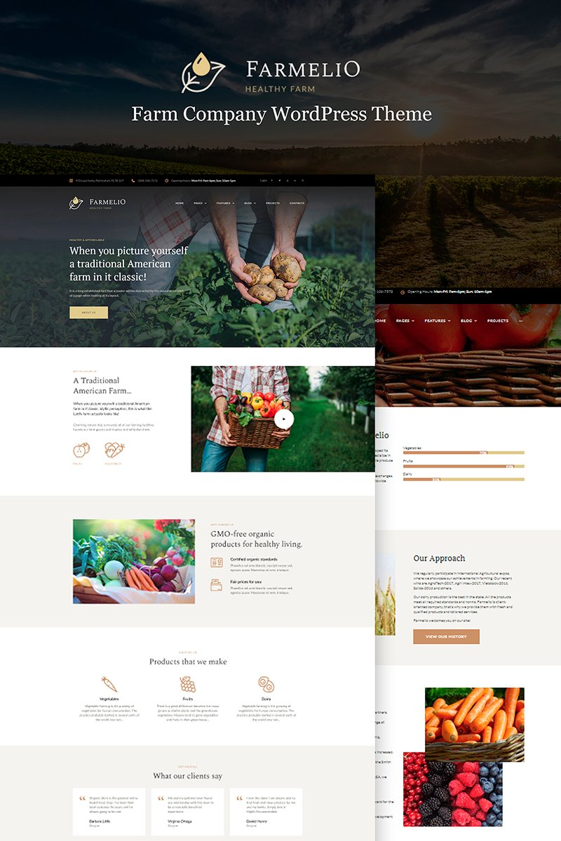 "WordPress motiv ""Farmelio - Farm Responsive"" #67001"