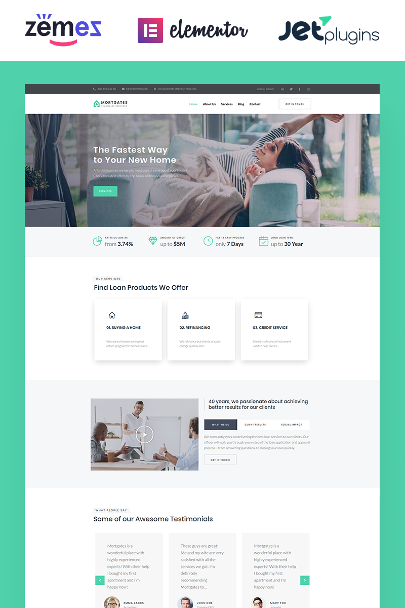 Mortgates - Financial Services WordPress Theme
