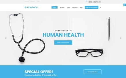 Healthon - Hospital Clean Joomla Template