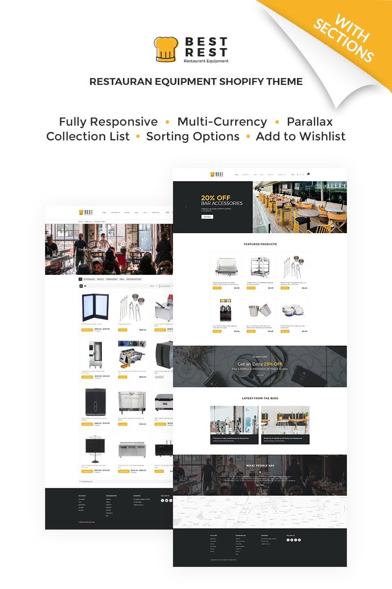 Website Template 67152 Shopify Restaurant Equipment Custom