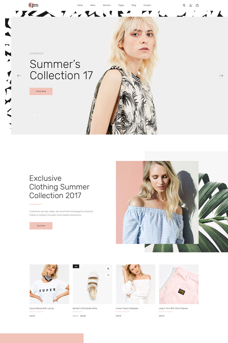 Website Design Template 67159 - bootstrap woocommerce beauty accessories bags shoes