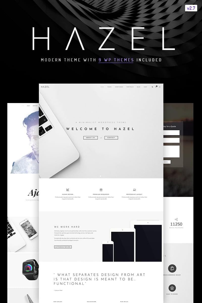 Hazel Clean Minimalist Multi Purpose Wordpress Website Templates