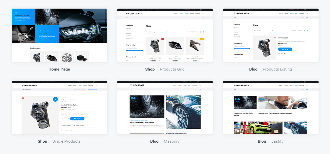 GearShip - Car Parts Store Elementor WooCommerce Theme