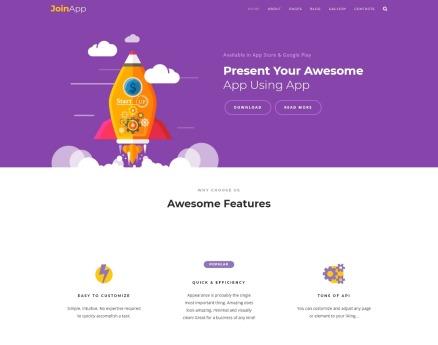 JoinApp - Mobile App Joomla Template