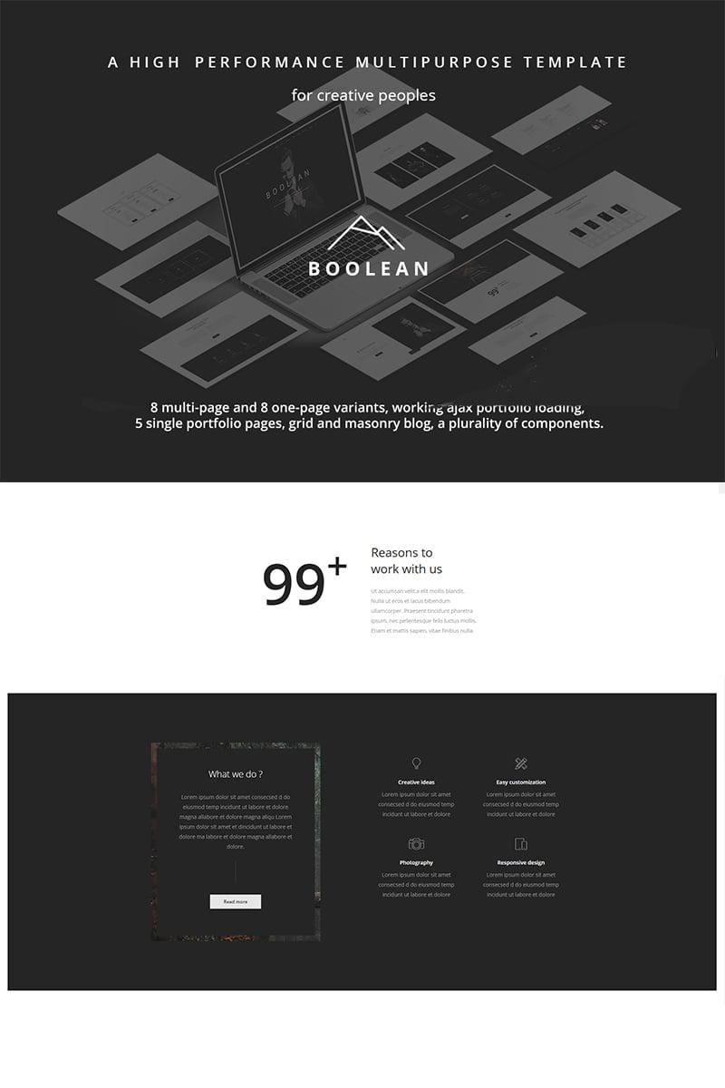 Boolean - Creative Multi-Purpose Template Web №67127