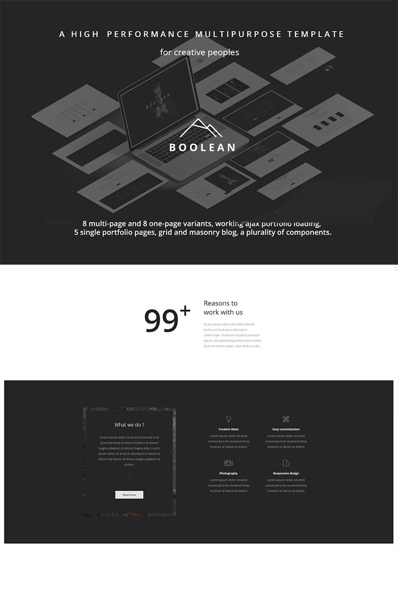 Boolean - Creative Multi-Purpose Website Template