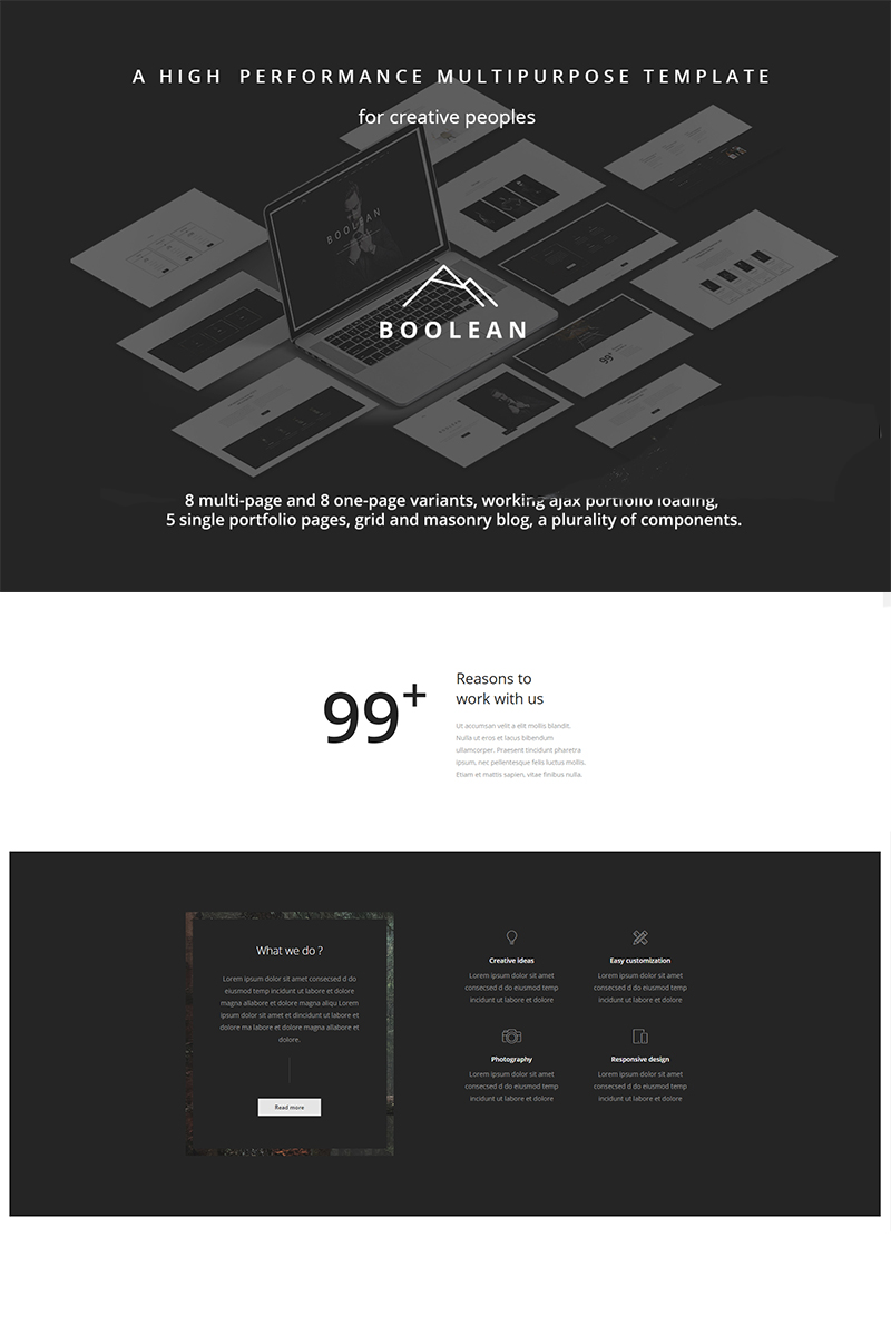 Bootstrap Boolean - Creative Multi-Purpose Hemsidemall #67127