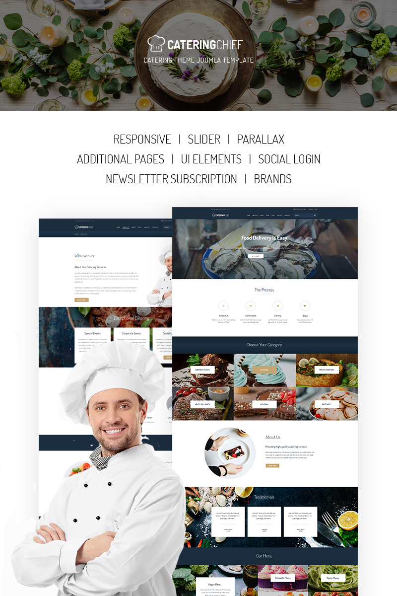 Catering Chief - Catering Joomla Template - screenshot