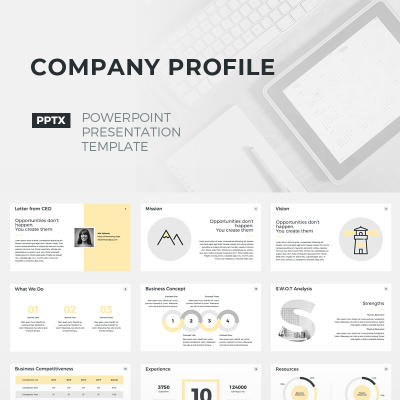 Company profile powerpoint template 67157 company profile powerpoint template 67157 powerpoint templates toneelgroepblik Image collections