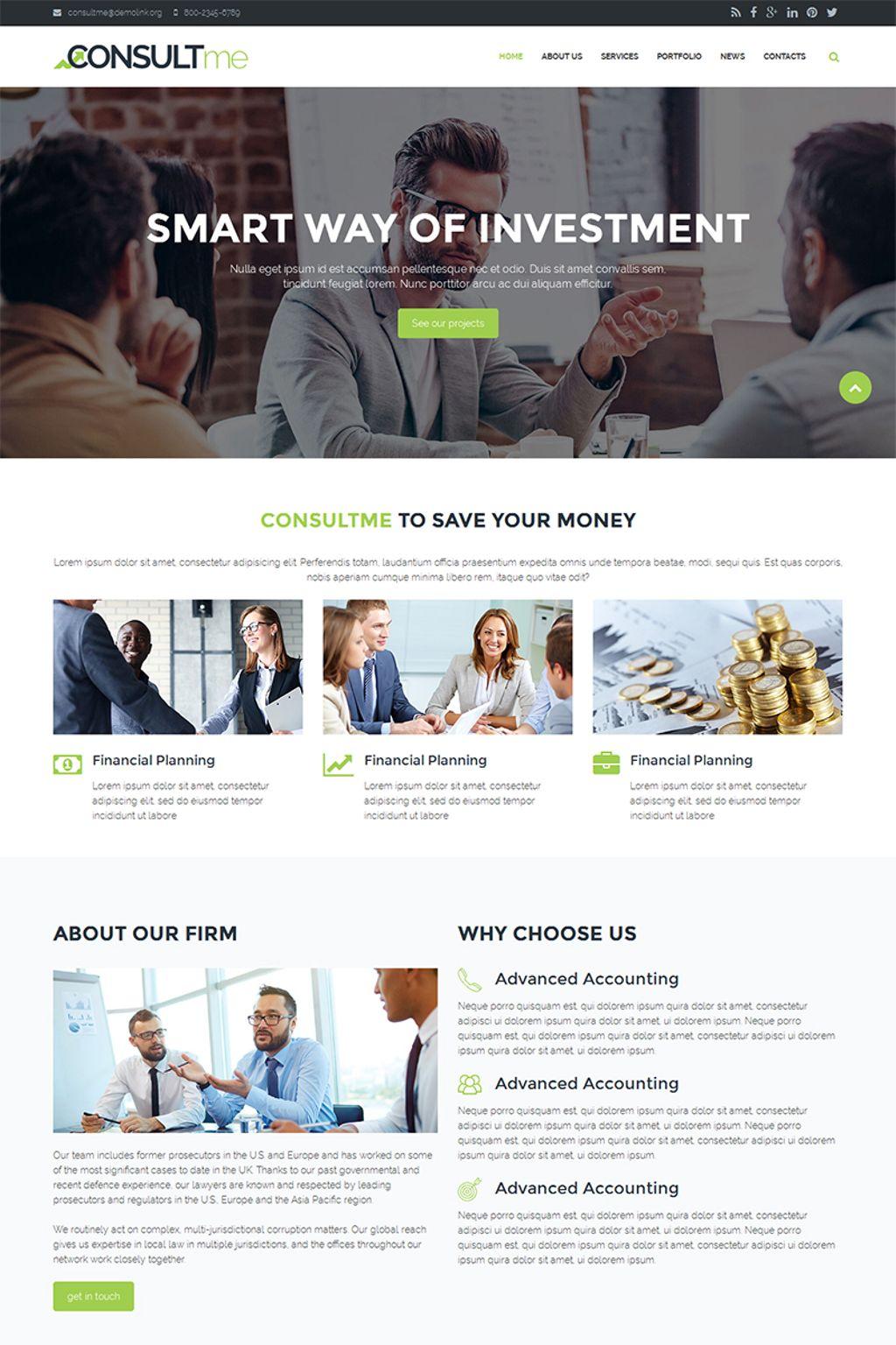 """Consultme - Consult Agency"" - Drupal шаблон №67192 - скріншот"