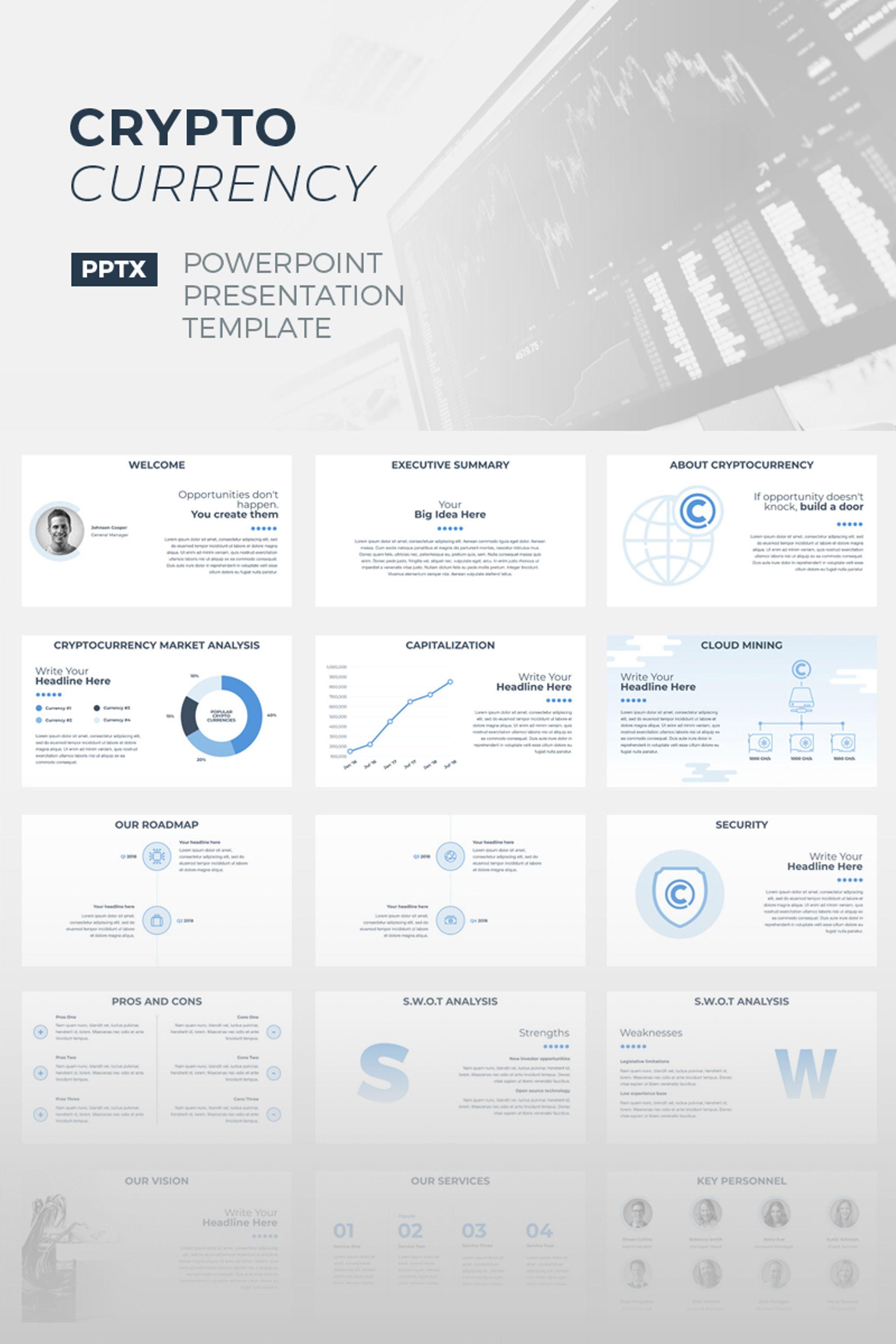 CryptoCurrency PowerPoint sablon 67155