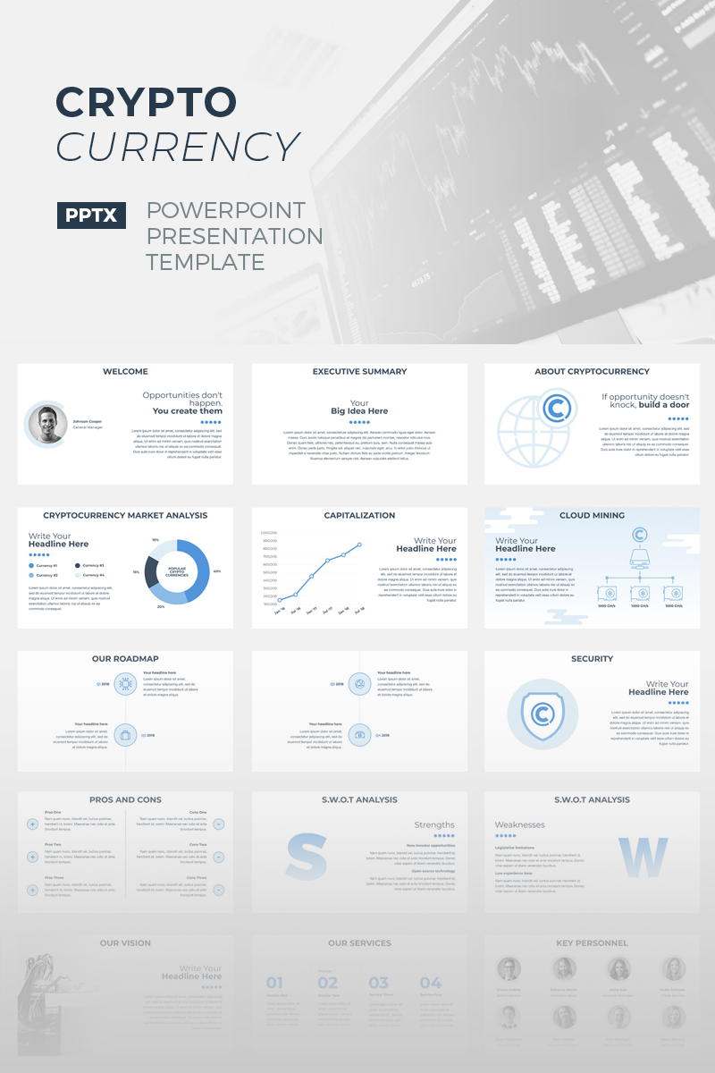 CryptoCurrency Template PowerPoint №67155