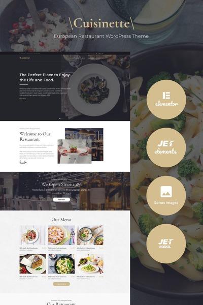Cuisinette - European Restaurant Cross-browser