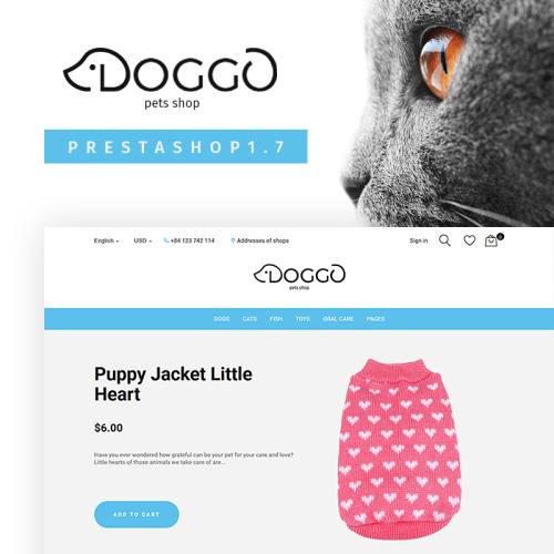 Doggo - PrestaShop Template based on Bootstrap