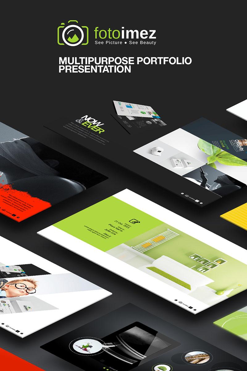 FotoImez | Portfolio Photography & Product Showcase PowerPoint sablon 67133