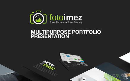 FotoImez | Portfolio Photography & Product Showcase PowerPoint template PowerPoint Template