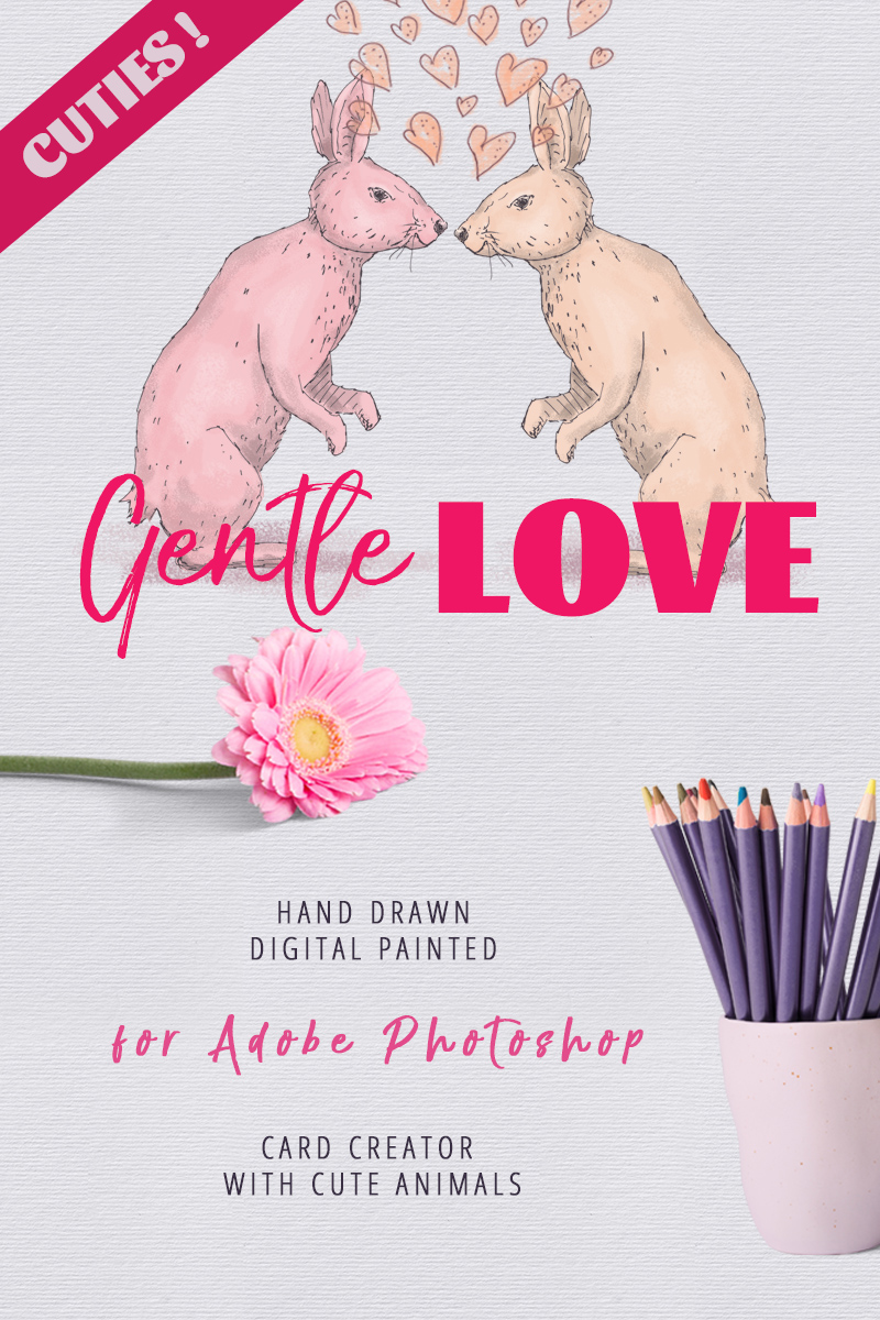 Gentle Love - Card Creator Illustration - screenshot