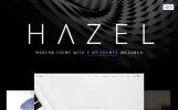 Hazel - минималистичный многоцелевой WordPress шаблон