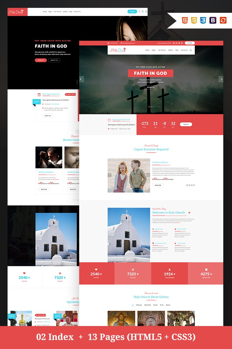 Holy Cross - Charity & Church Bootstrap HTML Website Template