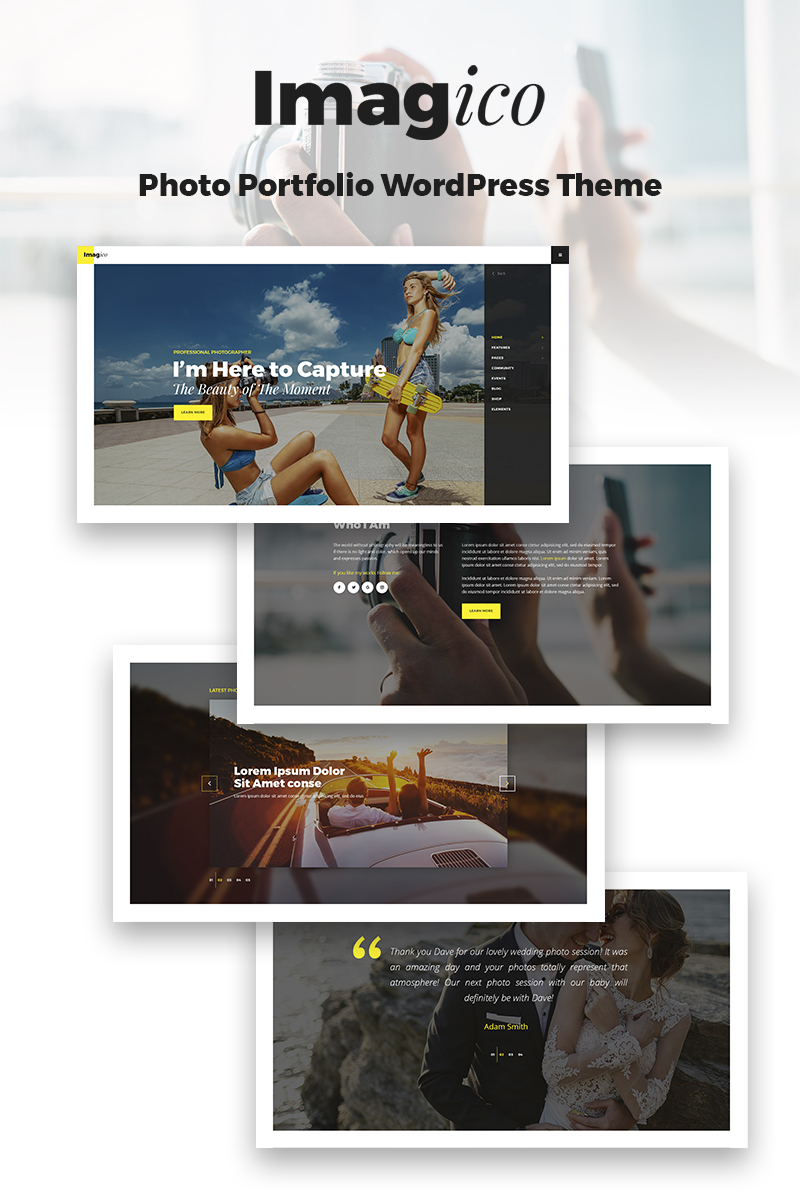 Imagico - Photographer Portfolio Tema WordPress №67174