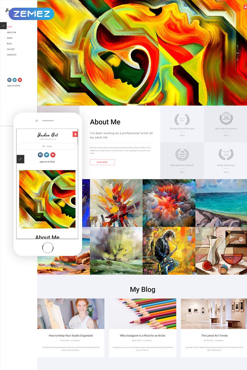 """""""Jaden Art - Art Portfolio"""" - адаптивний Joomla шаблон №67177"""