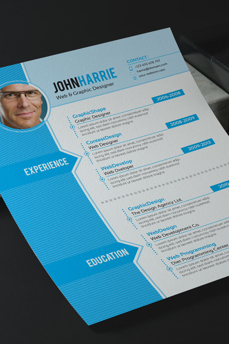 John Harrie Graphic Designer Resume Template