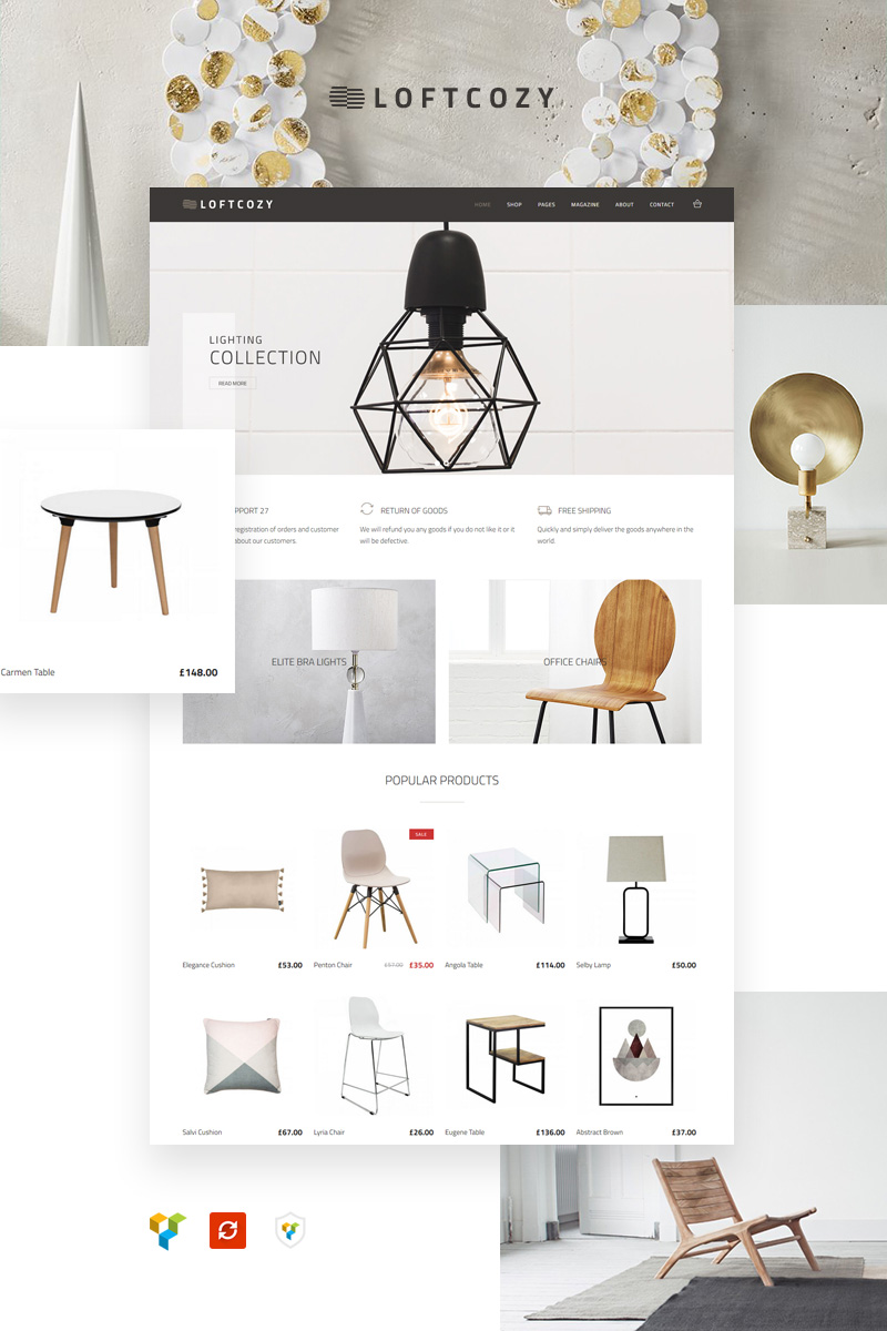 Loftcosy - Interior and Decor eCommerce WooCommerce Theme