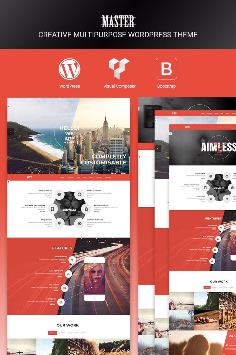 """""""Master - Creative Multi Purpose"""" Responsive WordPress thema №67162 - screenshot"""