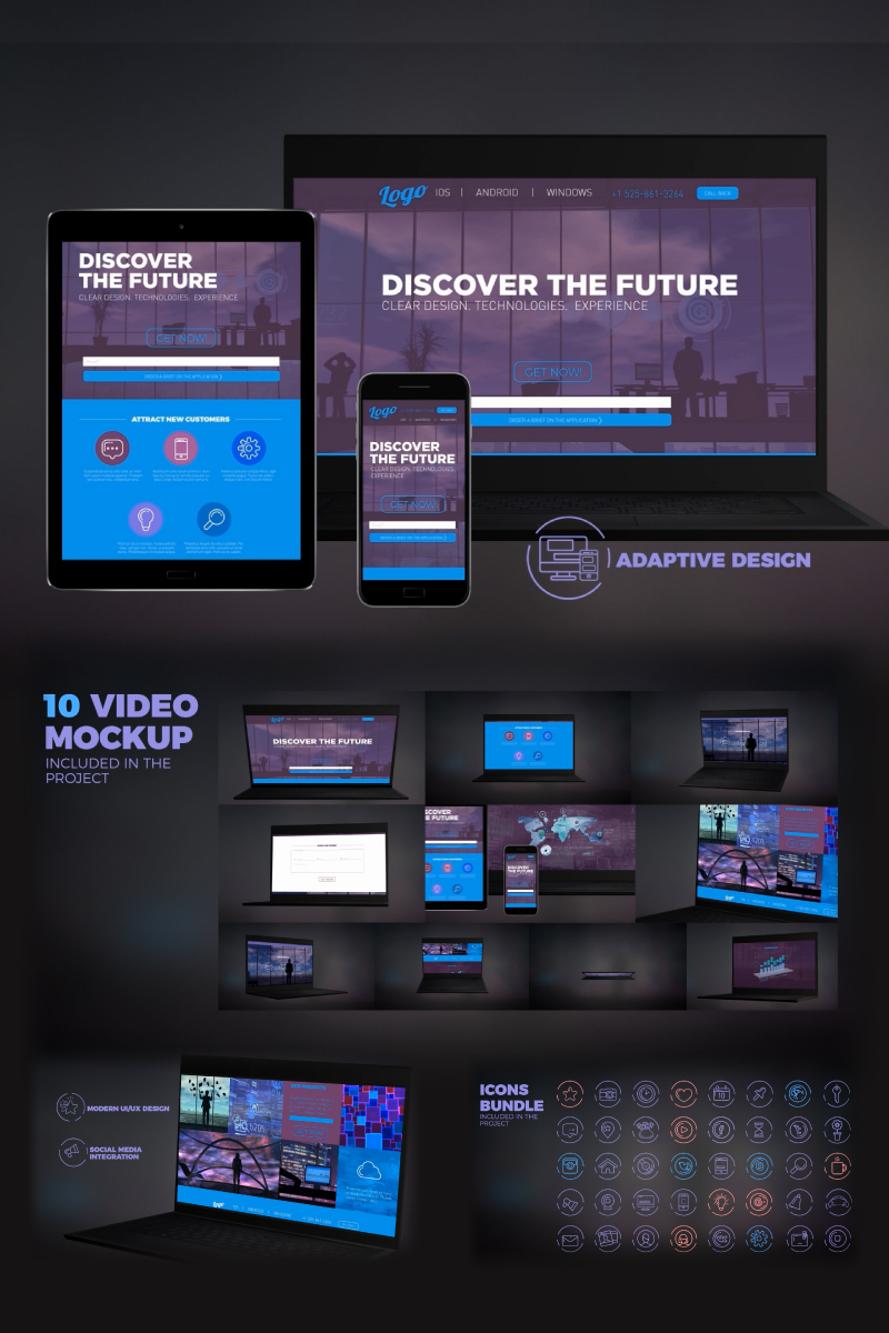 "Modello After Effects Intro #67154 ""Website Presentation"""
