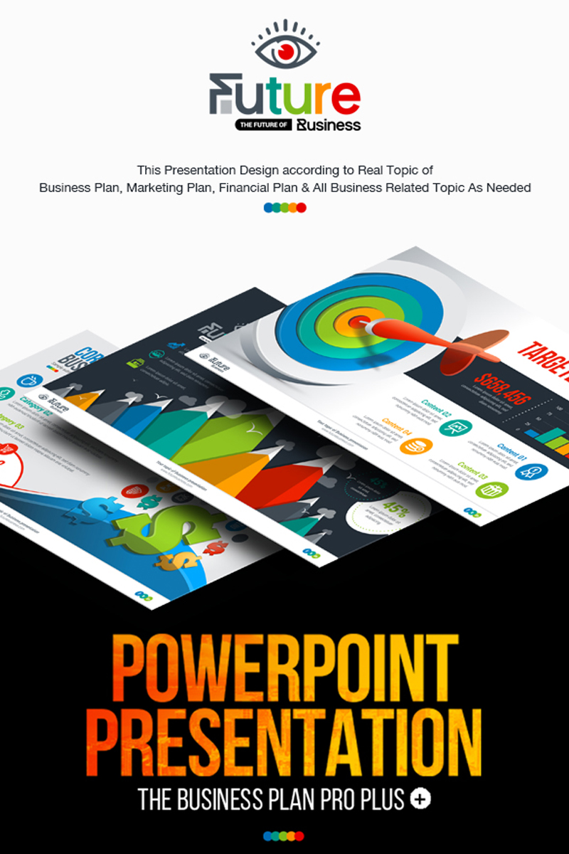 "Modello PowerPoint Responsive #67160 ""Business Plan Presentation | Animated PPTX, Infographic Design"""