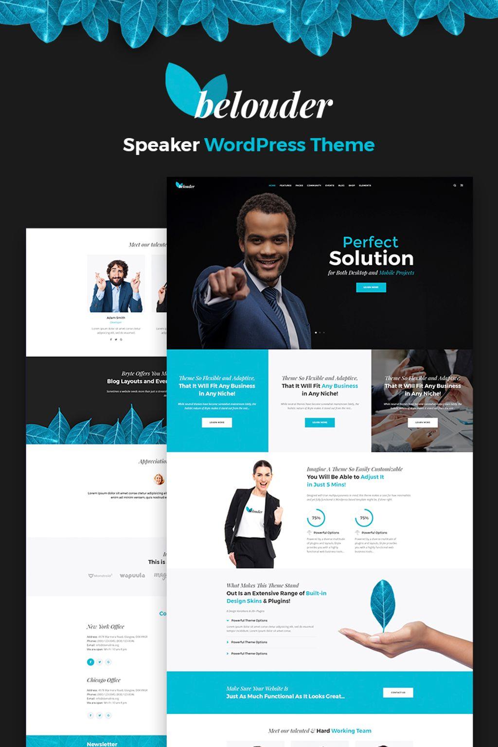 """Modello WordPress Responsive #67196 """"Belouder - Business&Service Responsive"""""""
