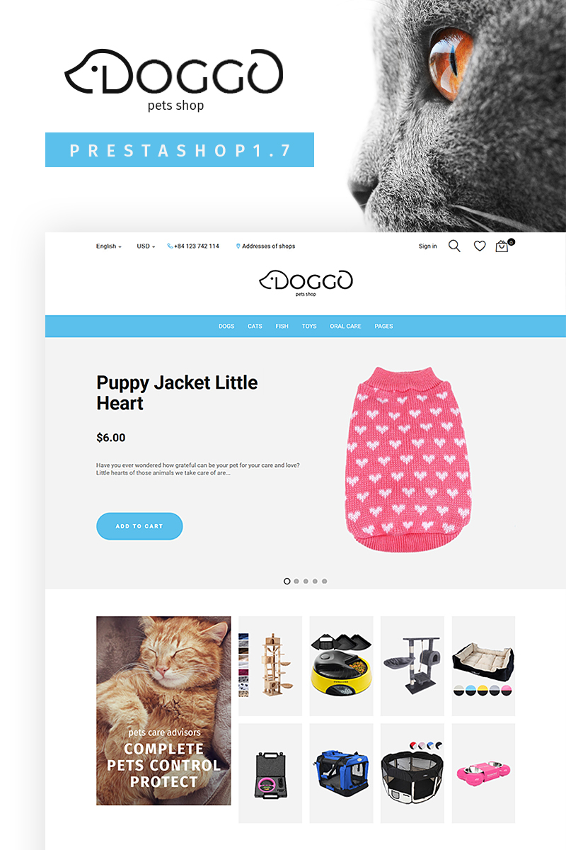 "PrestaShop motiv ""Doggo - Pet Shop"" #67148"
