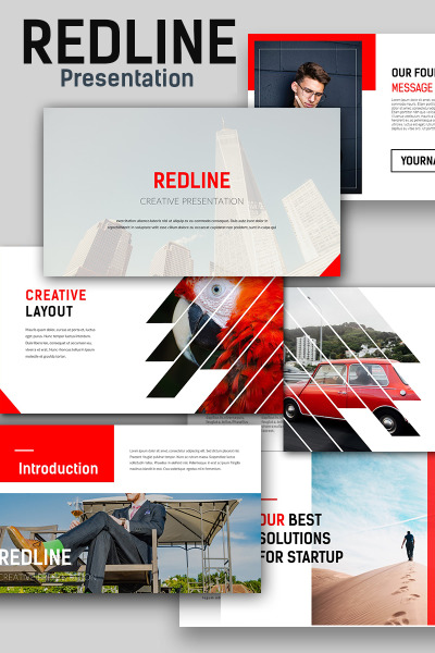 Redline Creative PowerPoint Template #67143