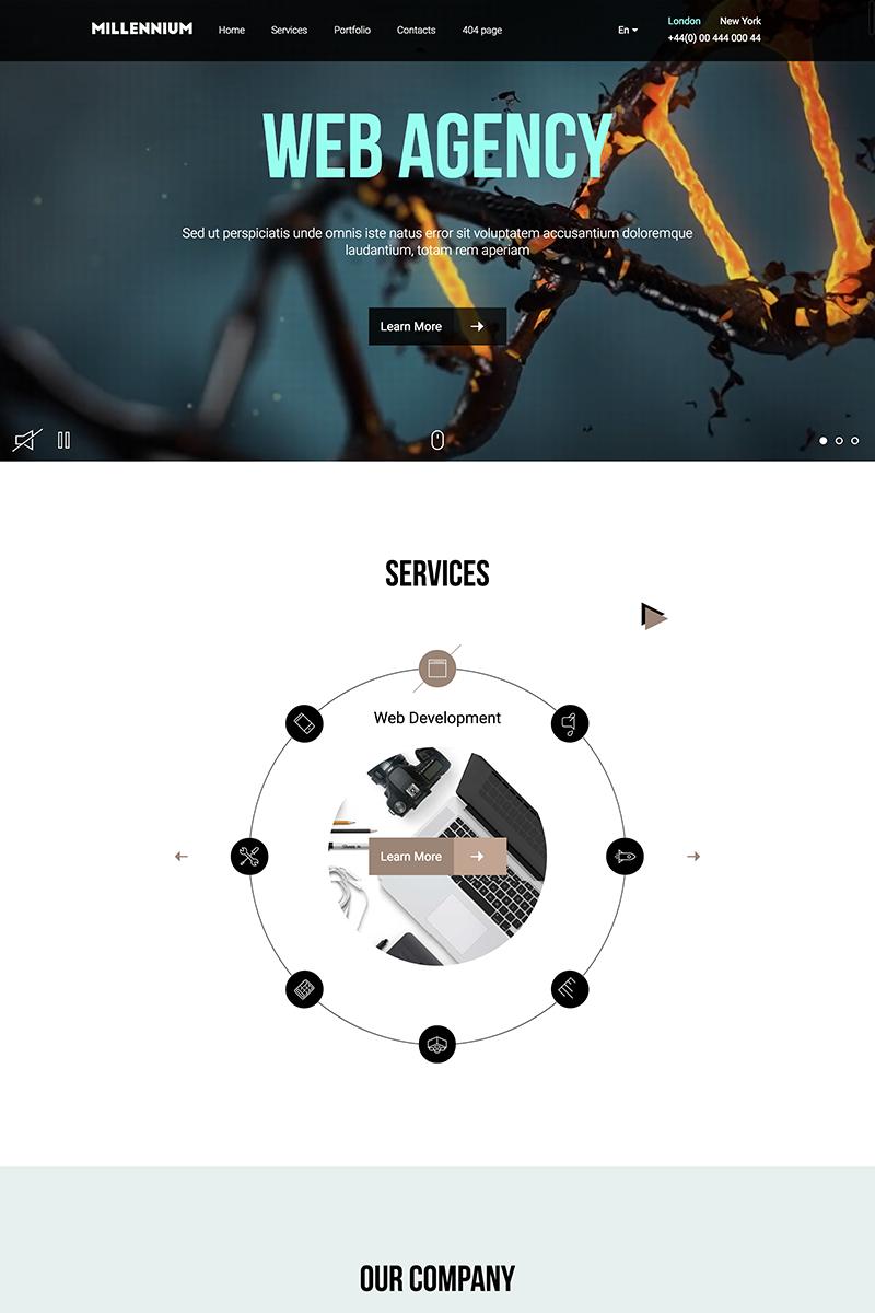 Responsive Millennium - Creative Responsive Minimalistic HTML Web Sitesi #67173
